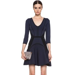 [DVF] Rhonda Knit Dress in Admiral Navy & Black